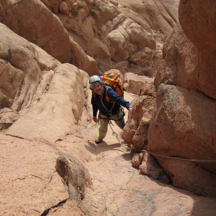 Erstbegehung im Sinai (beim Mosesberg)