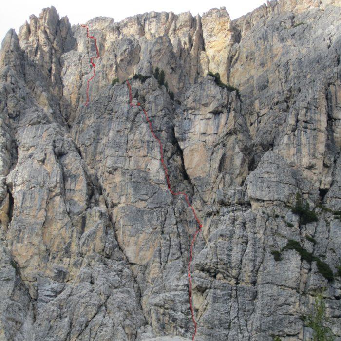 """Mauerläufer"", Col dei Bos (links der Tofana)"