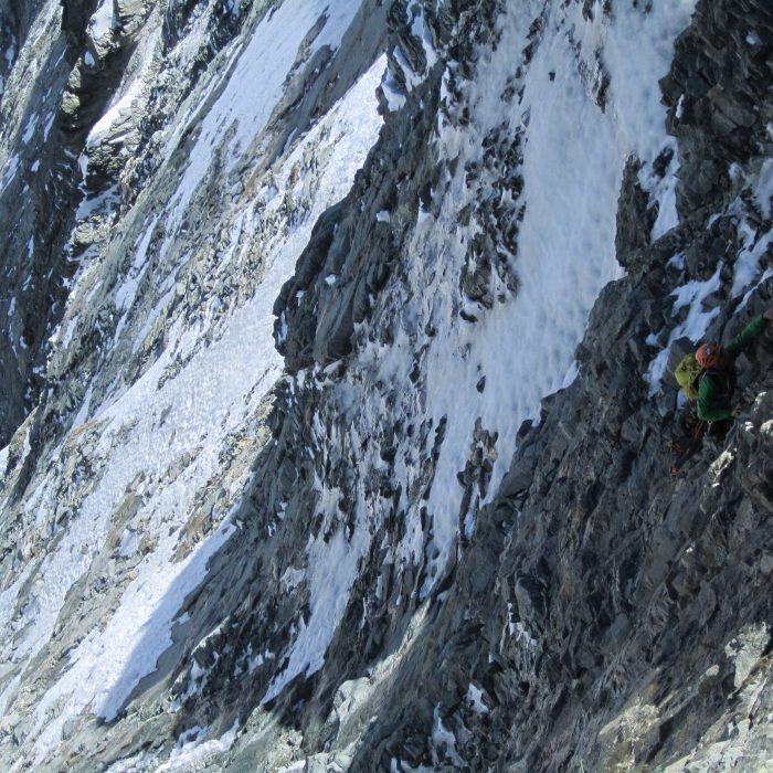 Gewitter in der Matterhorn Nordwand