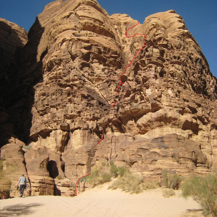 """South Tyrolean Cracks"", Canyon of Rad al Beida (Jordanien)"