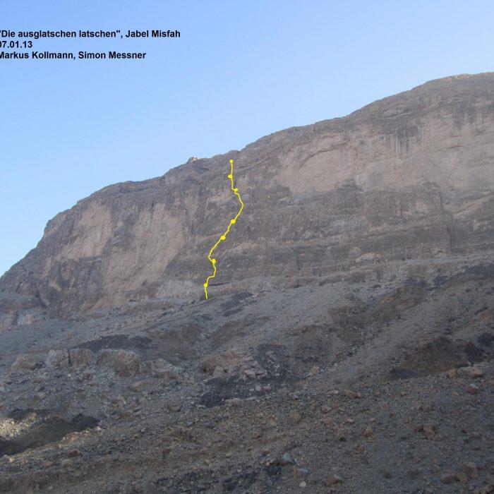 """""""Die ausglatschten Latschen"""", Jebel Misfah (Oman)"""