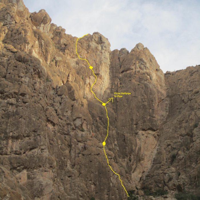 """""""Olly"""", Variante zu """"Halfpipe to Pipe"""", Karnräbäb (Oman)"""