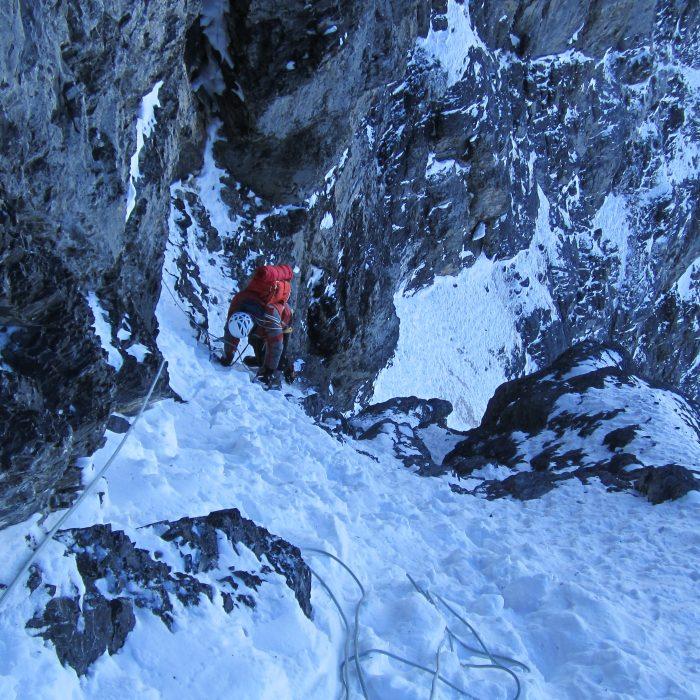 "Eiger Nordwand ""Heckmair"" im Winter"
