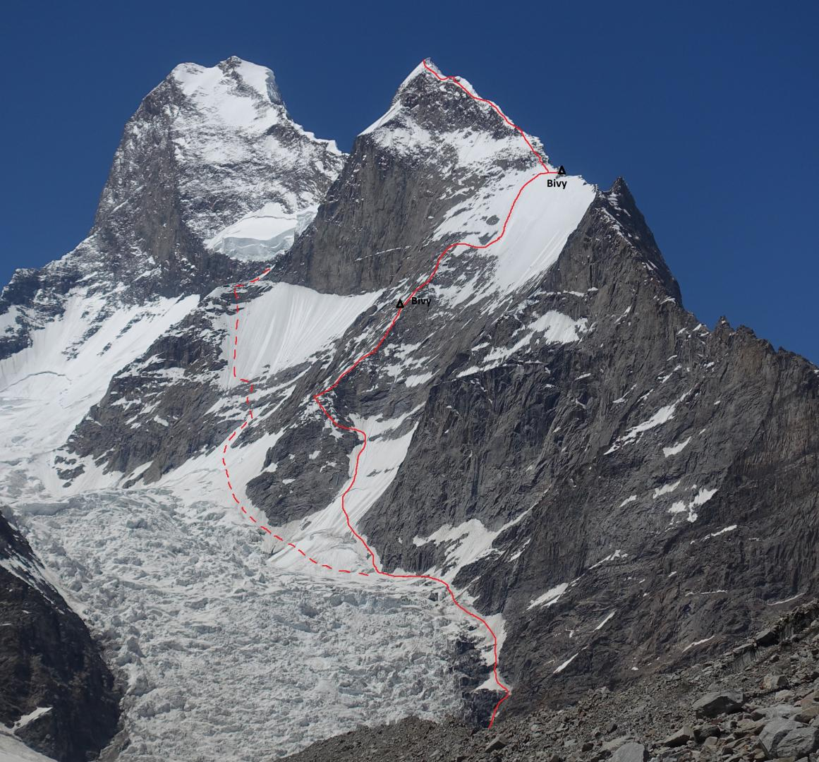 First Ascent of Muztagh Tower's Black Tooth (6.718 m)