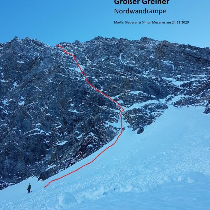 """""""Nordwandrampe"""", Großer Greiner Nordwand (Zillertaler Alpen)"""