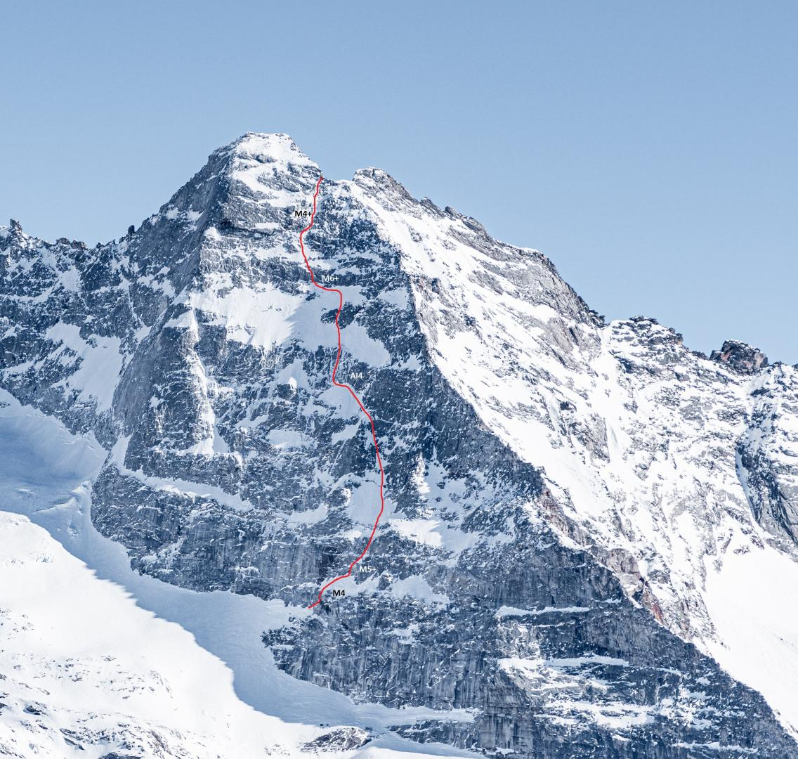 Winter-Variante am Fußstein (Valsertal, Tirol)